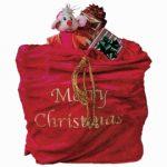 velvet santa toy sack
