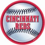 "Cincinnati Reds 9"" Lunch Plates - 18 count"