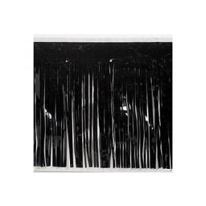 Black Metallic Vinyl Fringe Drape