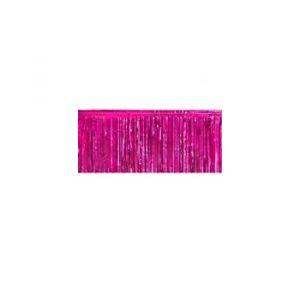 Hot Pink Metallic Vinyl Fringe Drape