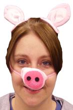 Plush Clip On Pig Ears