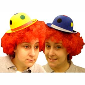 Mini Clown Hat w Polka Dots