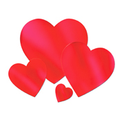 "12"" Red Foil Heart Cutout"
