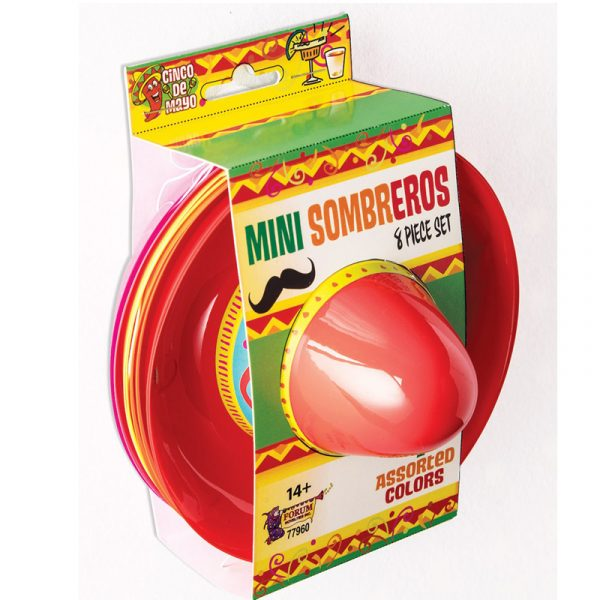 Mini Plastic Sombrero 6 Piece Set