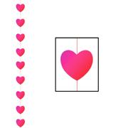 6.5 foot Heart Stringer Valentine Love