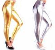 Fabric Metallic Leggings
