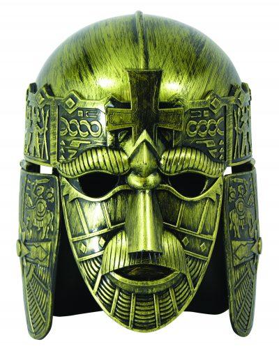Plastic Medieval Warrior Helmet w Mask