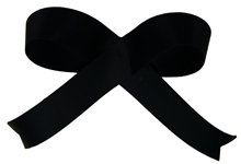Black Acetate Satin Ribbon