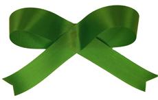 Christmas Green Acetate Ribbon