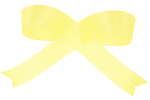 Yellow Acetate Satin Ribbon