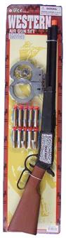Plastic Western Rifle Handcuffs Air Darts Set