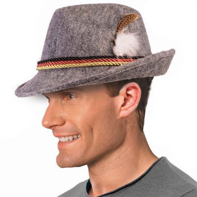 Promo Felt German Alpine Hat with Feather