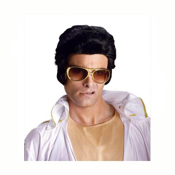 Costume Promo Rock n Roll Elvis Wig - Black - Cappel s 29745a4c1927