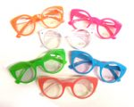 Opaque Frame Clear Round Lens Eyeglasses