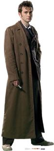 Doctor Who in Overcoat Cardboard Stand Up