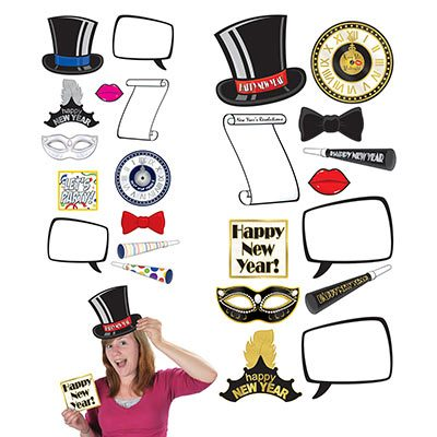 New Year's Photo Fun Props & Signs