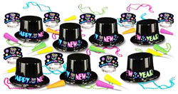 Neon Party New Years Asst for 50 People