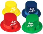 Happy New Year Lagacy Plastic Top Hat