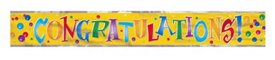 Congratulations Mylar Banner