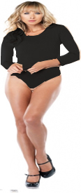 Nylon Long Sleeve Bodysuit - Plus Size - Available in 3 colors