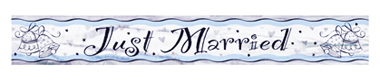 Just Married Mylar Banner
