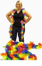 9 foot Tropical Leaf Garland - Bright Multi Color