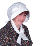 Pilgrim Bonnet - White Fabric