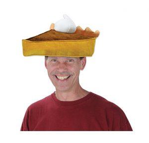 pumpkin pie hat w whipped cream