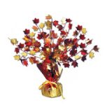 "15"" Fall Leaves Gleam N' Burst Vinyl Centerpiece"