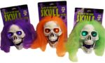 Glow Light-Up Skull with Neon Hair - Asst Colors