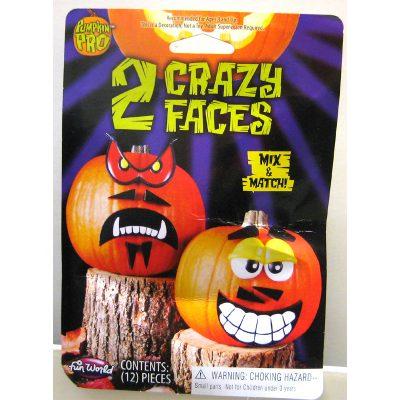 Crazy Faces Halloween Pumpkin Decorating Kit
