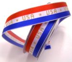 Double Wired USA Striped Red/White/Blue Ribbon