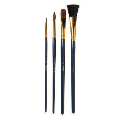 4 brush set for art or makeup