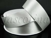 Silver Double Faced Satin Ribbon