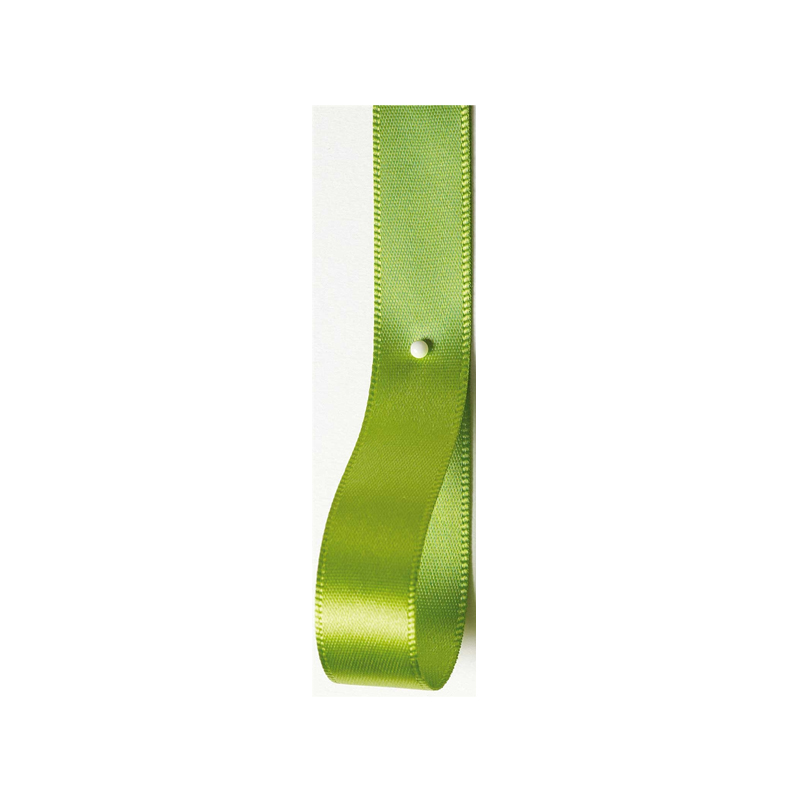 Lime Double Faced Satin Ribbon
