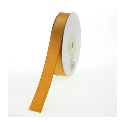 Old Gold Double Faced Satin Ribbon