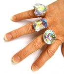 Large Iridescent Costume Ring