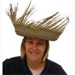 Straw birdsnest hat