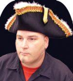 Maribou Trimmed Gov'nah Pirate Hat