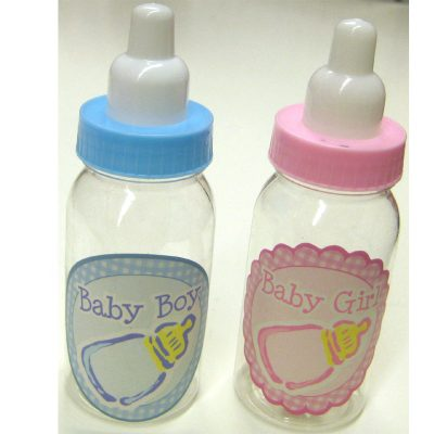 Baby Bottle Party Favor Pink or Blue