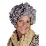 Nanna Ladies Curly Costume Wig - Mixed Gray