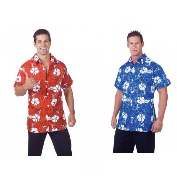 Mens Button Down Hawaiian Luau Shirt Aloha