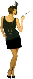 Flapper Dress Ladies 1920 XL costume