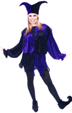 Jester Tunic Purple and Black