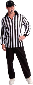 Referee Shirt and Cap Costume