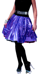 1970s Sequin Disco Skirt - Purple