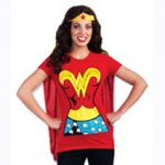 Wonder Woman t-shirt and cape
