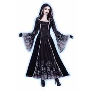 Forsaken Souls Ladies Dress with Hood and Skulls  Print