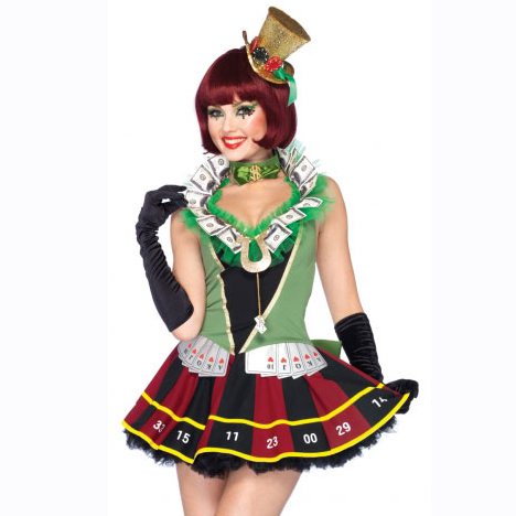 casino lady costume