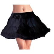 Layered Tulle Petticoat Black Standard Size